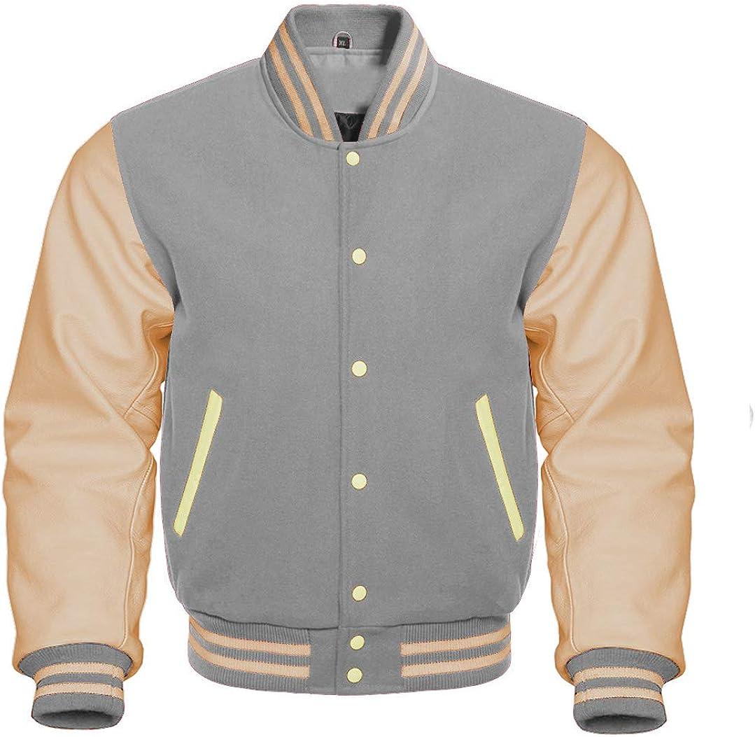 Apex Ltd Varsity Jacket Letterman Bomber Baseball Wool & Genuine Leather Sleeves College Jacket