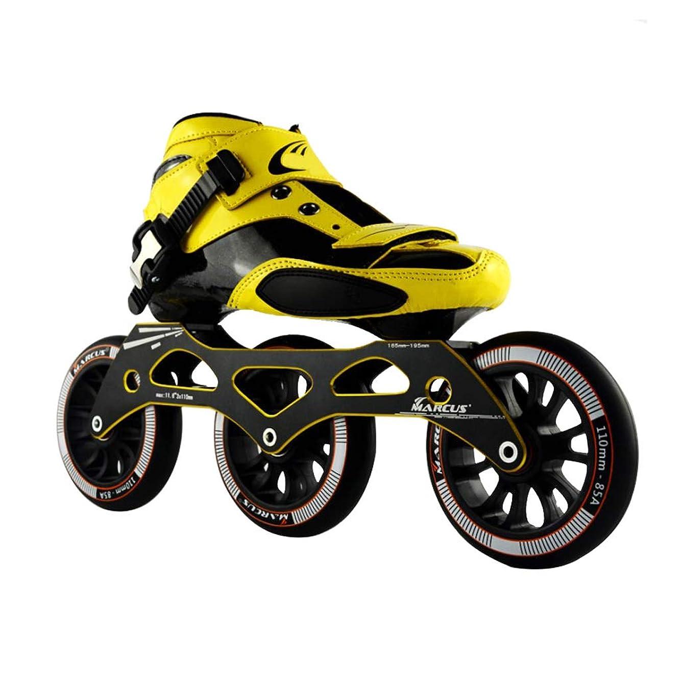 危険な実施するに対処するインラインスケート ローラースケート、 スピードスケート靴、 大人の男性と女性のインラインレーシングシューズ、 ? 初心者のスケート靴、 プロのプーリーシューズ キッズ ローラースケート (Color : Black, Size : 42)