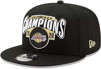 Los Angeles Lakers 2020 NBA Finals Champions Locker Room 9FIFTY Snapback Adjustable Hat – Black