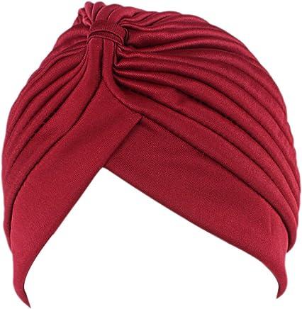 c7f91448a3a Aquiver Women s Unisex Indian Style Stretchy Turban Hat Hair Head Wrap Cap  Headwrap Scarf Turban Sleep