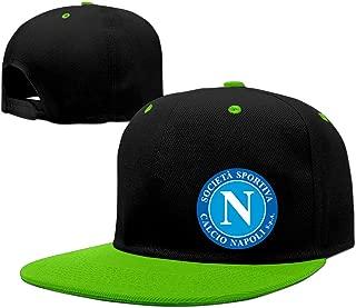Dancing S.S.C. Napoli Logo Adult Unisex Cotton Baseball Caps Contrast Color Adjustable Caps