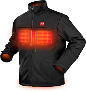 Men's Soft Shell Heated Jacket with Detachable Battery Pack