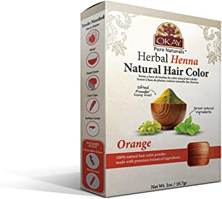 OKAY Pure Naturals | Herbal Henna Hair Color Orange | All-Natural Dye | Free Of Harmful Chemicals | Vibrant Rich Color Pig...