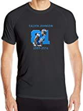 Men's Calvin Johnson Retire Tribute Sport Quick Dry Short Sleeves T-Shirt