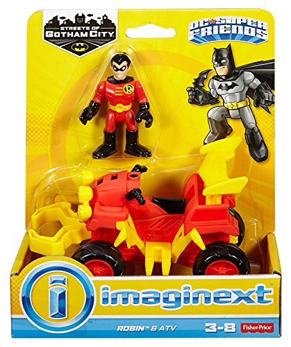 Fisher-Price Imaginext DC Super Friends Streets of Gotham City Robin & ATV