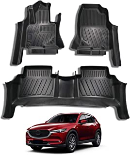 Mixsuper CX5 Floor Mat Custom Fit All Weather 5D Protect Covered The Door Sill Durable Odorless Carpet Liner Set for Mazda CX-5 2017-2020