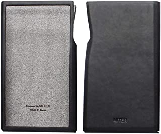 for Astell&Kern A&Futura SE200 , Hand Crafted Miter PU Leather Case Cover AK SE200 Case (Black)
