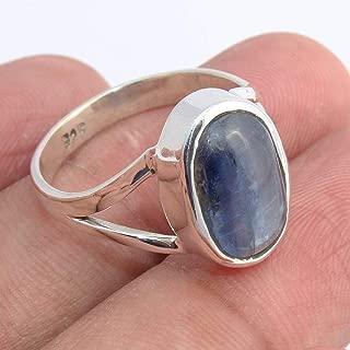 Blue Kyanite 925 Sterling Silver Ring Handmade Jewelry