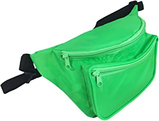 Rave Fanny Pack In Day Glow Colors, Black Light Reactive (Neon Green)