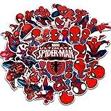 YMSD Lot de 35 autocollants amovibles pour skateboard, cahier, dessin animé, héros Spiderman