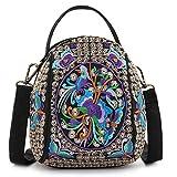 Goodhan Embroidery Crossbody Bag, Cell Phone Purse Canvas Small Handbag