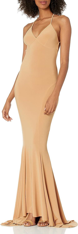 Norma Kamali Women's Low Back Slip Mermaid Fishtail Gown