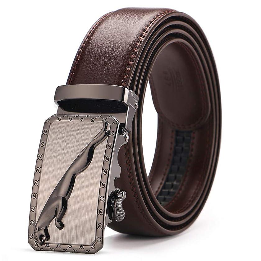Men's Brand Genuine Leather Belt Brown Automatic Buckle Size 110-130 Cm Waist Strap Business Cintos