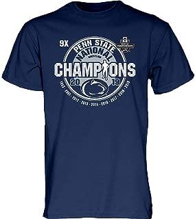 Elite Fan Shop Penn State Nittany Lions National Wrestling Champs Tshirt 2019 Navy 9X