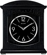 Bulova B6220 Lighted Dial Glendale Bluetooth Wireless Speaker Mantel Clock, Black
