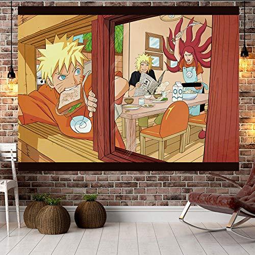 Kakashi Uchiha Sasuke Naruto Tapestry Hanging Tapiz Wall Decor Anime Japan Wall Cloth Picnic Blanket Yoga Shawl Mat Cartoon Gift-Naruto 124_110*150CM