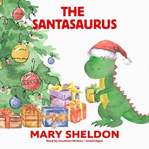 The Santasaurus audiobook cover art
