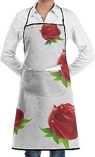 Balance-Life Rugiada del mattino con grembiule regolabile con Fiore di Rosa Versione più spessa Resistente con Tasche