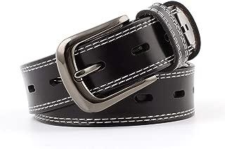 SGJFZD Women's Fashionable Retro Leather Belt Casual Pin Buckle Belt Belt Fashion Trend Leather Women's Belt (Color : Black, Size : 105~115 * 2.8cm)