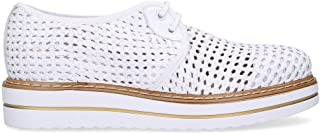 null Jackal Women's JL75368O White Leather Lace-Up Shoes