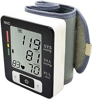 Muñeca Monitor De Presión Arterial, con Pantalla LCD Grande para El Uso En El Hogar Automático Medirse La Tensión Arterial Y La Frecuencia Cardíaca, 2-Usuario con Capacidad De Memoria 99
