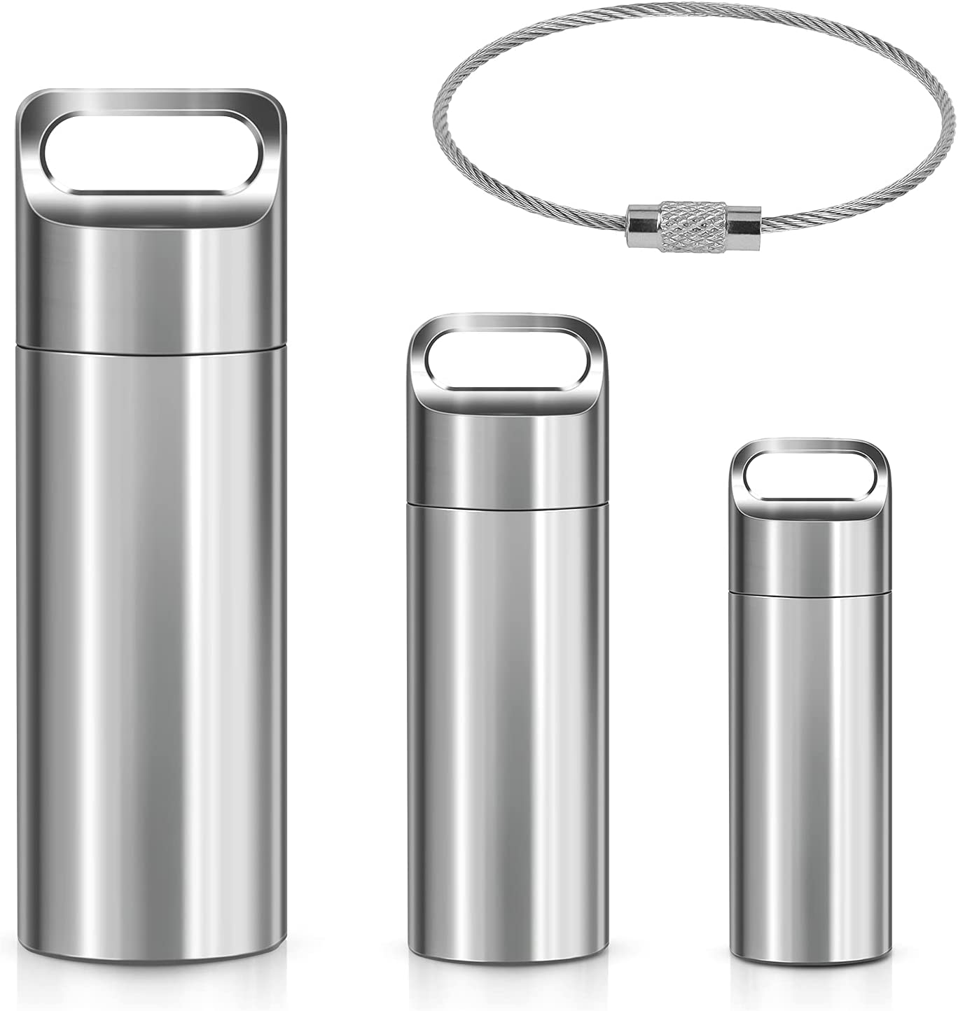 Mesa Mall Portable Keychain Pill Holder Stainless Steel C Waterproof Ranking TOP20