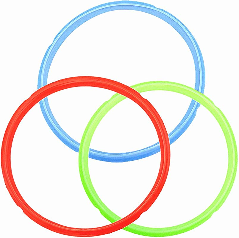 Silicone Sealing Ring Color Coded Sweet Savory Rings For 6 Qt 5 Quart Instant Pot Models Rubber Gasket Pressure Cooker Replacement Parts 3 Pack Red Green Blue