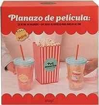 Mr. Wonderful Set de Bol de Palomitas y Vasos, Multicolor, Estándar