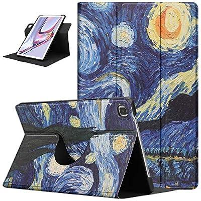ZhaoCo Funda con Giratorio de 360 Grados Compatible con Samsung Galaxy Tab A7 10.4 Pulgada 2020, Carcasa Ligera de Cuerpo Completo para Tableta SM-T500 / SM-T505 - Cuadro