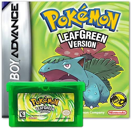 Pokemon Leaf Green Version GBA Game Card Pocket Monster Third Party Cards Gameboy Cartridge product image