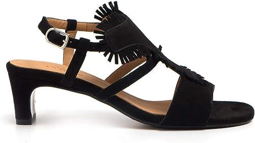 Audley - Sevilla Sandals in noir Suede - 20344CAPRI noir