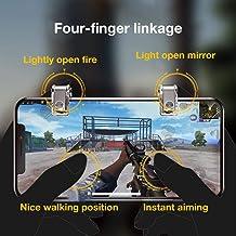 Controlador de Disparador móvil Metal Gamepad Trigger Aim Button L1R1 L2 R2 Shooter Joystick para PUBG/STG/FPS/Survival Rule/Arbor para iPhone Android iPad Mini 5 Phone Game Pad Accesorios
