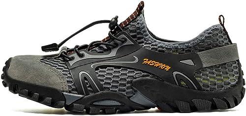 SELCNG Chaussures de randonnée randonnée Unisexes Chaussures de Marche imperméables Chaussures de Marche pour Hommes avec Chaussures de randonnée pour Sports de Plein air-gris-45