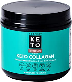 Perfect Keto Collagen Peptides Protein Powder with MCT Oil - Grassfed, GF, Multi Supplement, Best for Ketogenic Diets, Use...