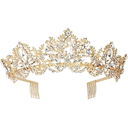 Silver Crystal Tiara with comb WILLOW
