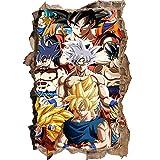 Nensuo Effekt Wandtattoo- Poster Anime 3D Dragon Ball