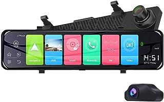 Elikliv Z70 4G Android 8.1 Dash Cam 1080P Dual Len WiFi Dashcam 12 Inch GPS ADAS Rearview Mirror Car DVR Driving Camera Re...