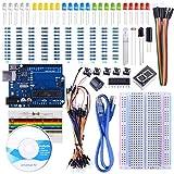 STARTO Starter Kit Compatible with ArduinoIDE Tarjeta Breadboard Sensor Cable de Puente 1 dígito 7 segmentos Tarjeta de Resistencia de Pantalla con tutoriales gratuitos SUA002