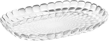 Guzzini Tiffany M Transparent 12.6 x 8.9 Inch Tray