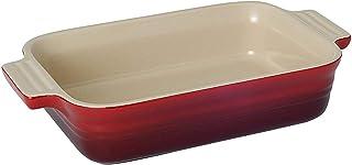 Le Creuset stengods grund rektangulär maträtt, 18 cm, cerise, 7110318060001