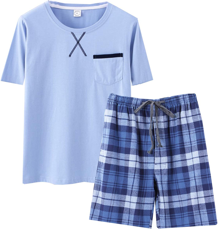 Big Boys Long Sleeve Plaid Pajamas Cotton Young Teens Sleepwear 10-16Years