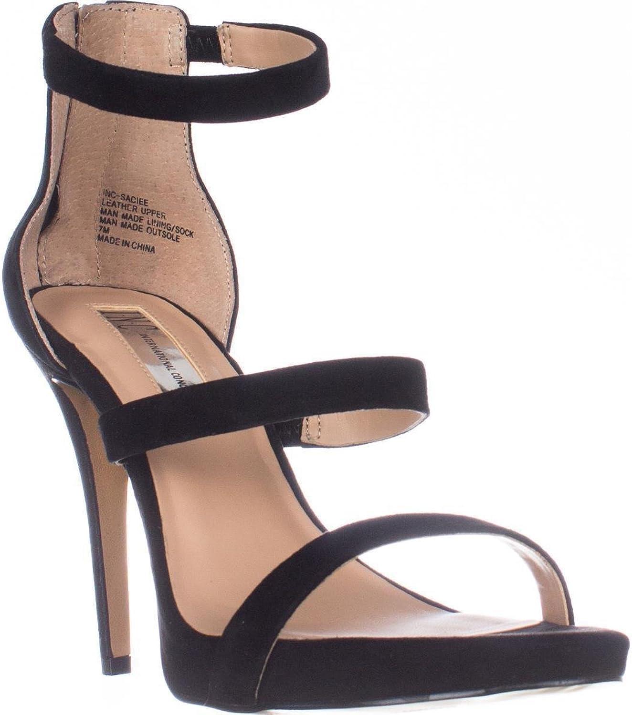 Inc Womens Sadiee Suede Stiletto Dress Sandals Black 7.5 Medium (B,M)