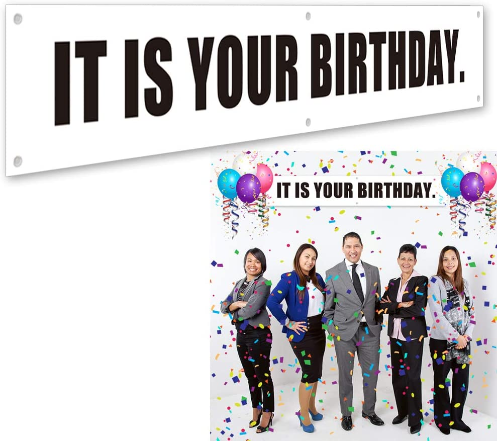 Ushinemi It is Your Birthday. Banner, The Office Birthday Party