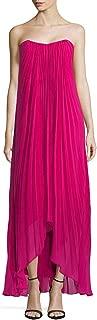 berry chiffon dress