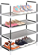 Cmerchants Smart Buy Home Utility Portable Space Saving 4 Layer Open Shoe Rack Organizer Stand