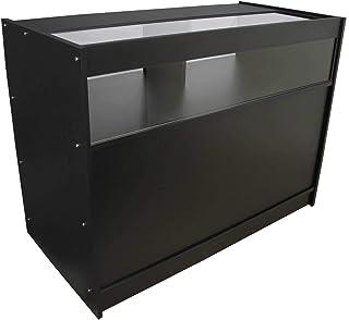 MonsterShop - B1200 Mostradore Mesas de Recepción mueble Oficina Mostradores Peluqueria Comercial Expositor| Negro 120cm (anchura) x 60cm (profundidad) x 90cm (altura)