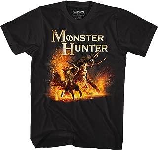 Monster Hunter Video Game Beast Black Adult T-Shirt Tee