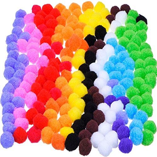 Outus Pompon per Fare Artigianato e Fornitura di Mestiere 0.9 Pollice, 200 Pezzi, Colori Assortiti