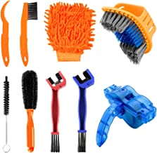 TOFAR 9PCS Bicycle Cleaning Brush Tools Set, Bike Cleaning Kits, Bike Chain Tire Cleaner with Chain Scrubber for Bike Chai...
