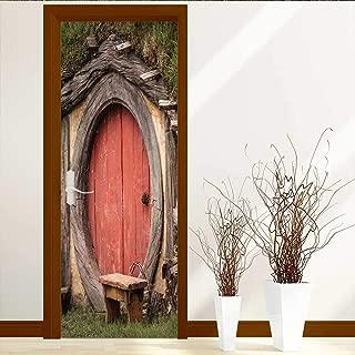 L-QN Art Decor 3D Door Wall Mural Wallpaper Stickers fbb Maison Hobbit Paul liu fotolia com Door Wall Mural Wallpaper Stickers W36 x H79